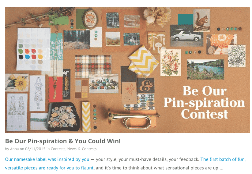 Pinterest Contests