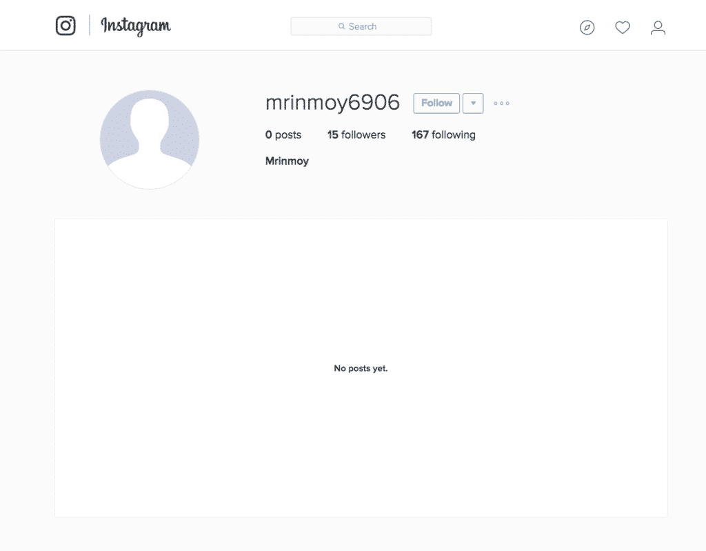 blank instagram profile