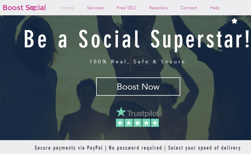 Boost Social services homepage