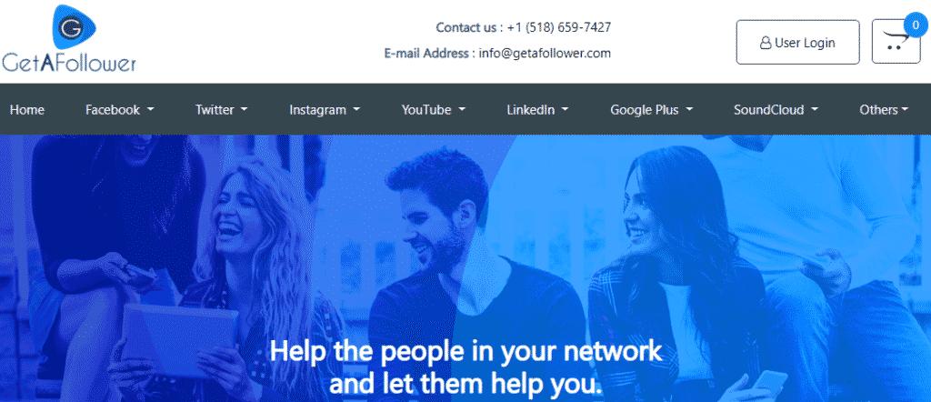 GetAFollower services homepage