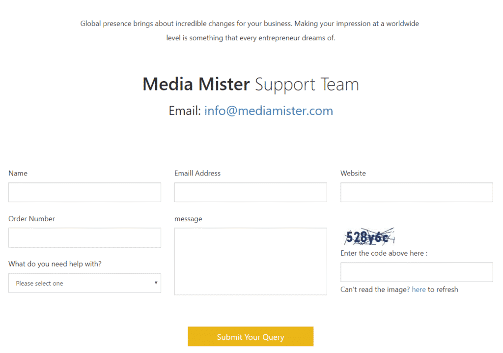 MediaMister Contact Page