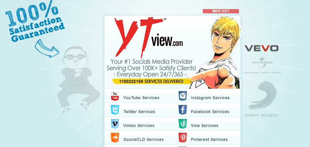 YTViews services homepage (1)