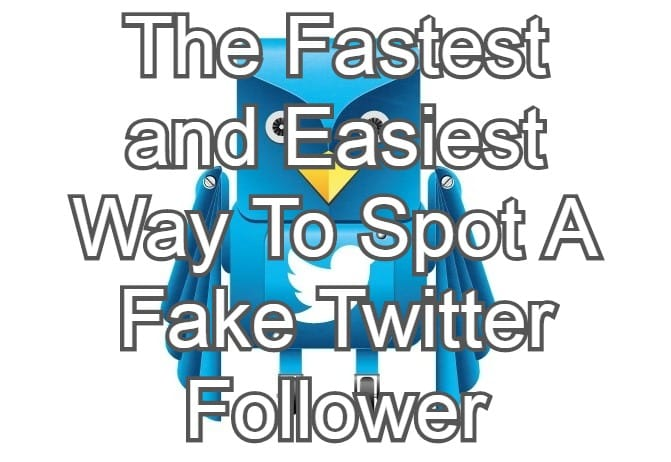 The Fastest and Easiest Way To Spot A Fake Twitter Follower