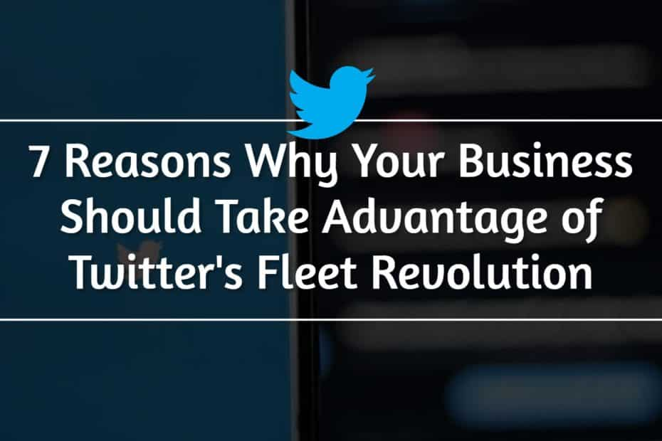 7 Reasons Why Your Business Should Take Advantage of Twitter's Fleet Revolution