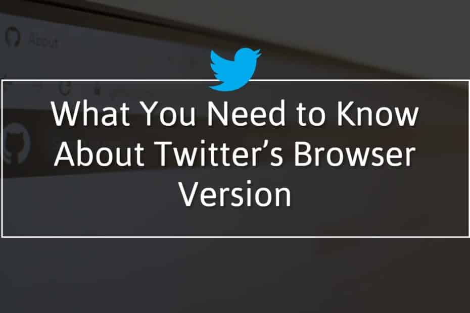 What You Need to Know About Twitter's Browser Version